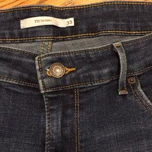 Levi's 711 Skinny Jeans.  33